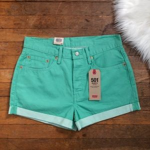 New Levi's 501 Button Fly Denim Jeans Shorts 30
